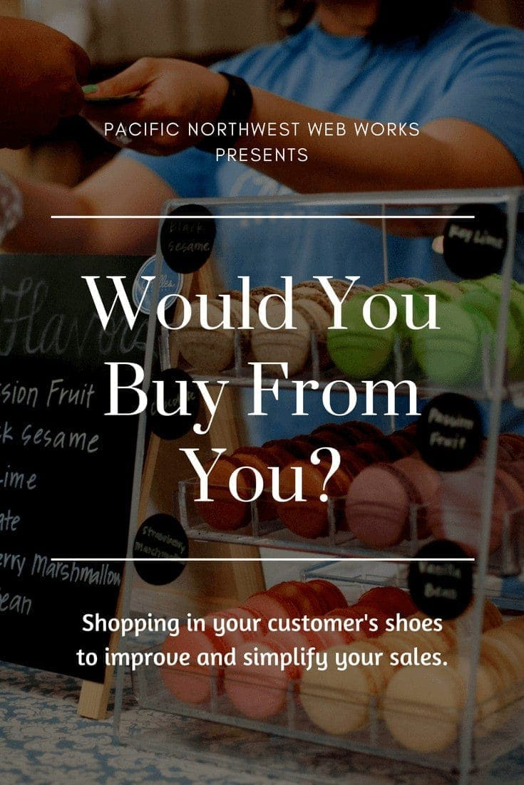 Would you buy from you? Shopping in your customer\'s shoes.