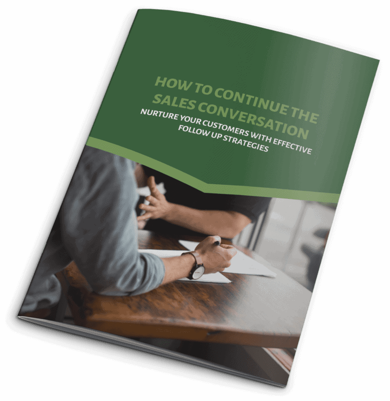How to continue the sales converstation